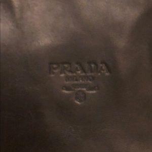 Vintage black leather PRADA